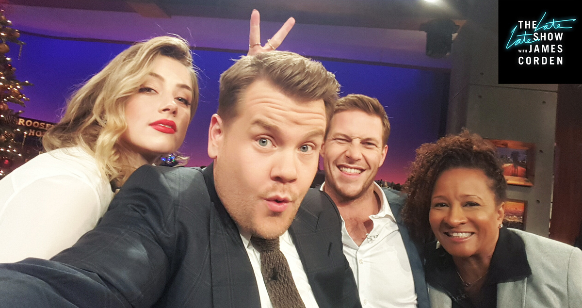 Amber Heard, Luke Bracey, and Wanda Sykes