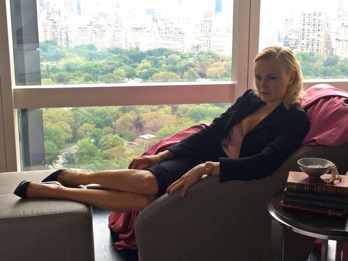 Billion's star Malin Akerman exudes confidence during her shoot.