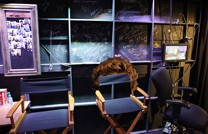 Simon Baker's hair chilling backstage