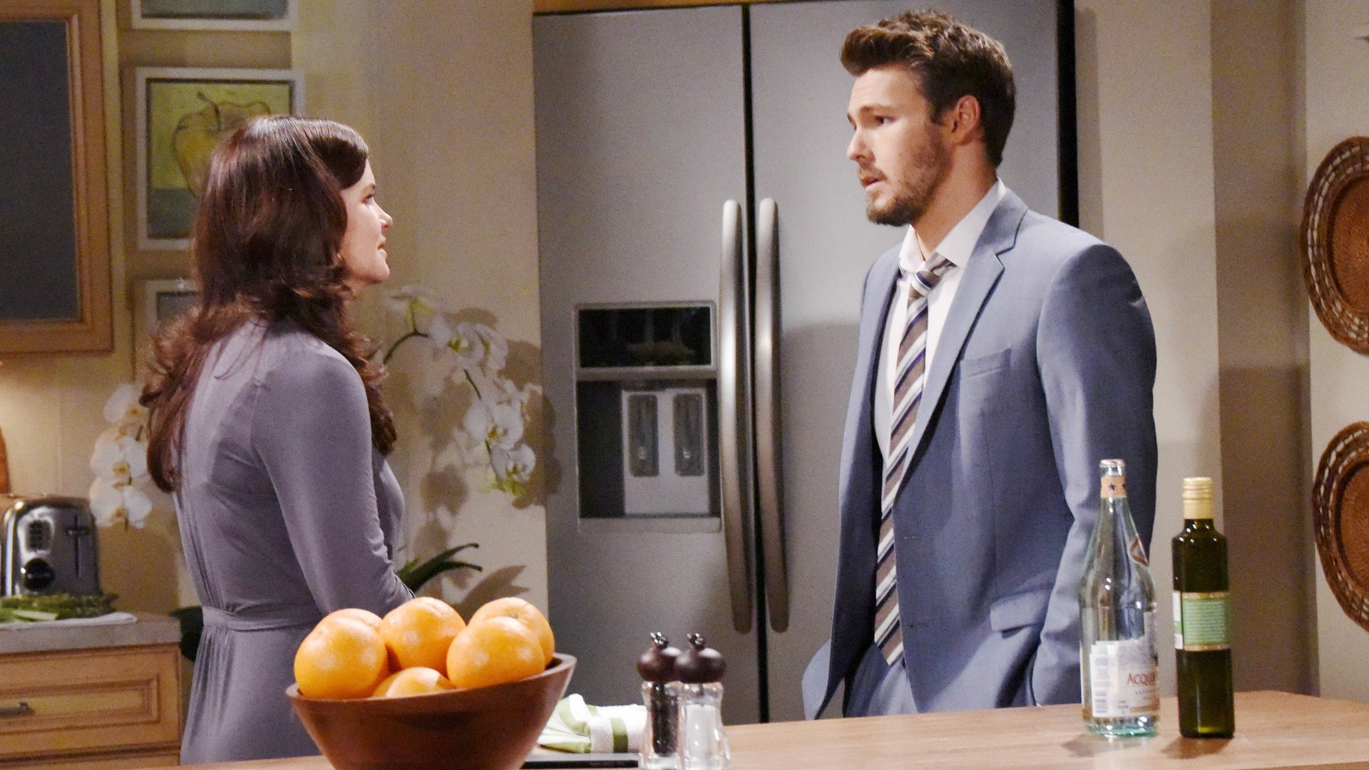 Katie seeks answers from Liam by expressing to him her concern and insecurities regarding Bill.