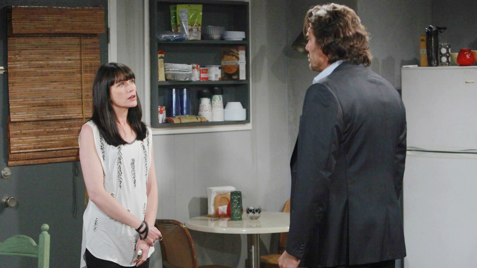 Furious with the situation at hand, Ridge confronts Quinn about her manipulation of Eric and her disrespect of Steffy.