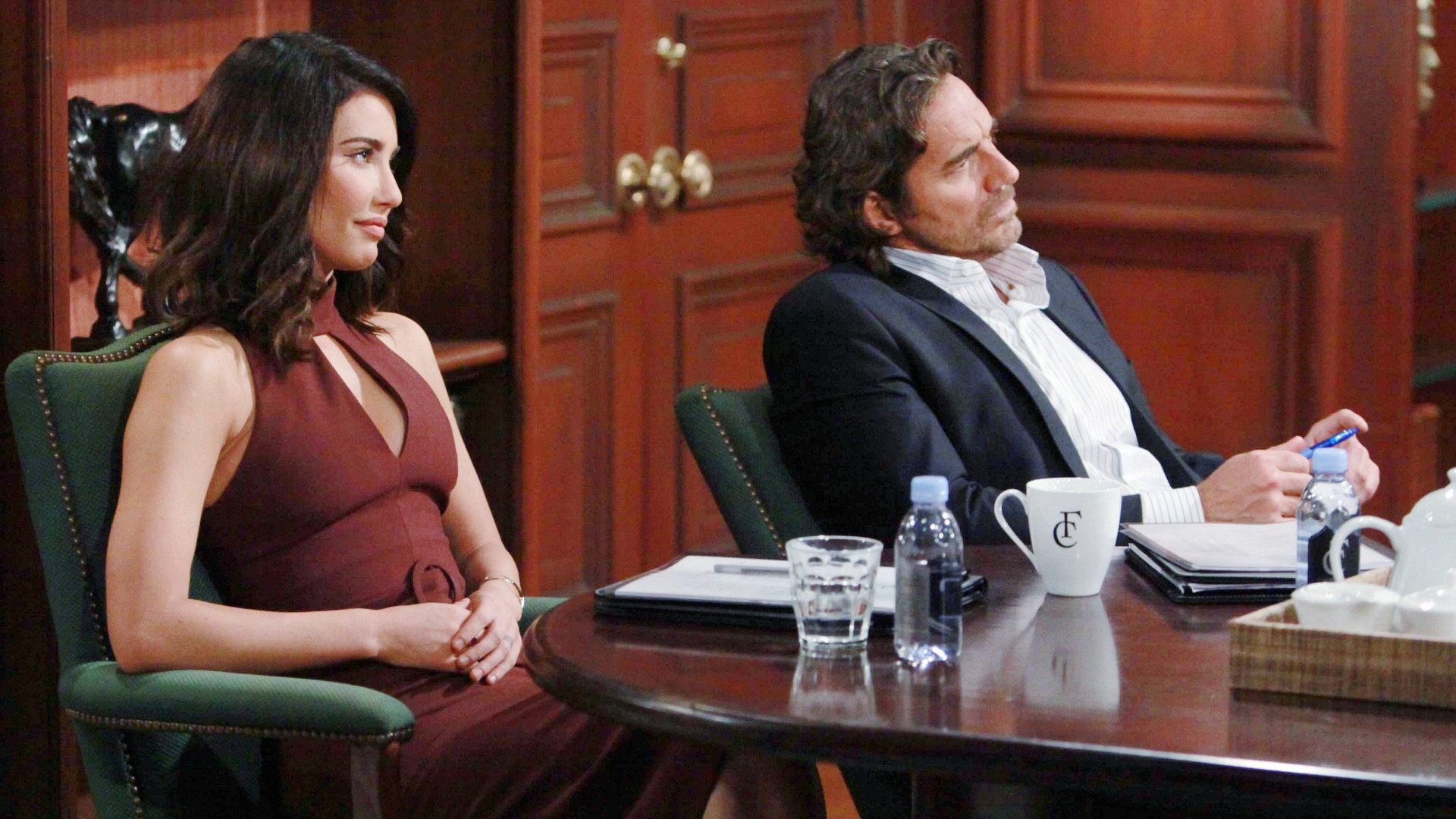 Ridge and Steffy work on different facets of ensuring that Eric and Quinn stay separated.