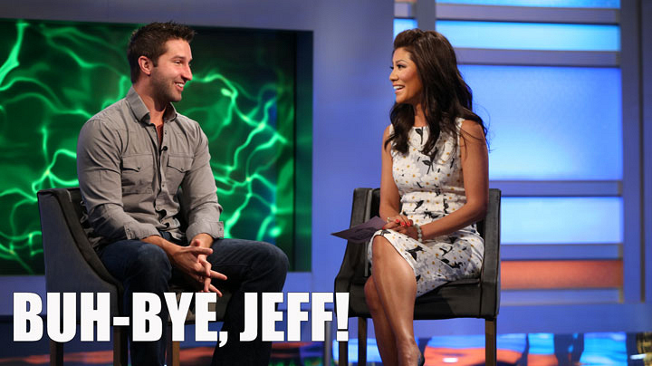 3. Jeff gets evicted from the Big Brother house.