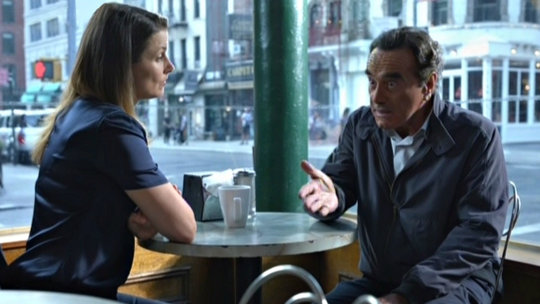Bridget Moynahan as Erin Reagan-Boyle and Dan Hedaya as Vincent Rella