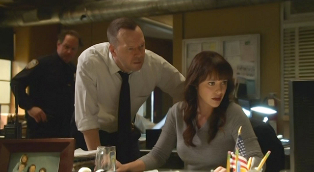 Donnie Wahlberg as Danny Reagan and Marisa Ramirez as Maria Baez