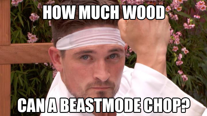 #BeastModeNinja chops his way into the BB17 house.