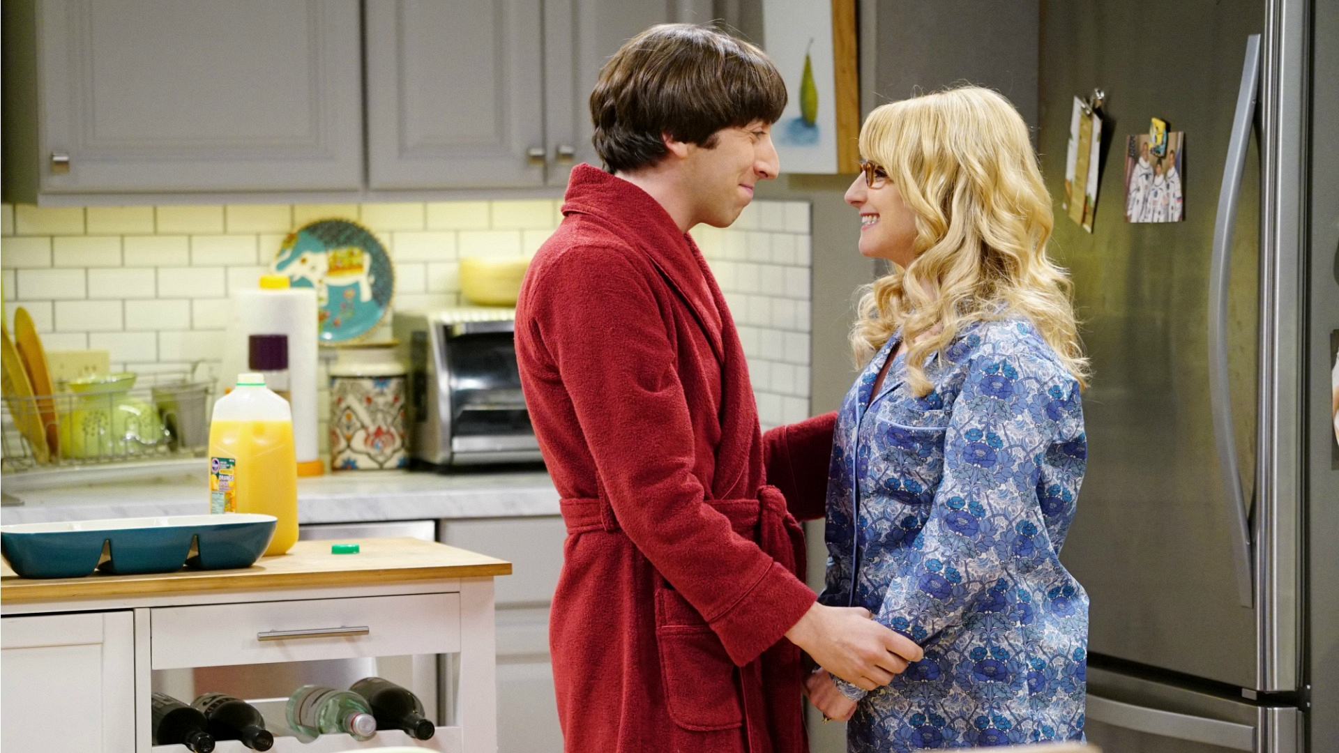 Bernadette revealed her pregnancy on The Big Bang Theory.