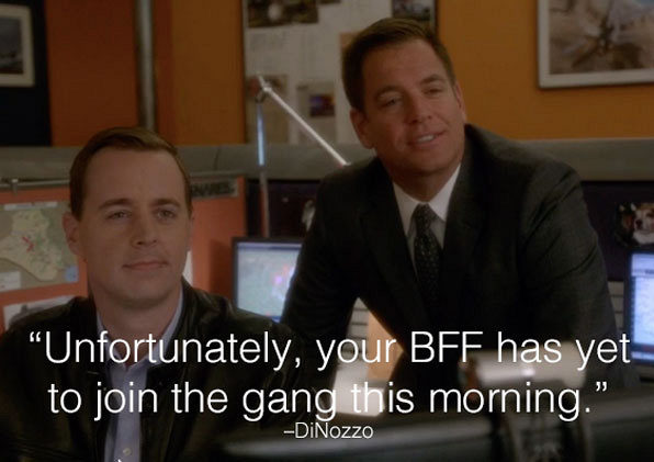 5. DiNozzo is jealous.