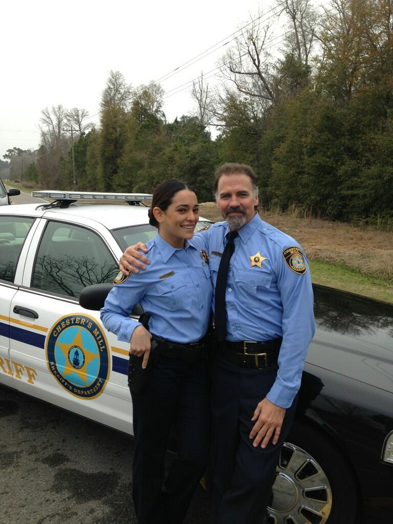 Natalie Martinez and Jeff Fahey