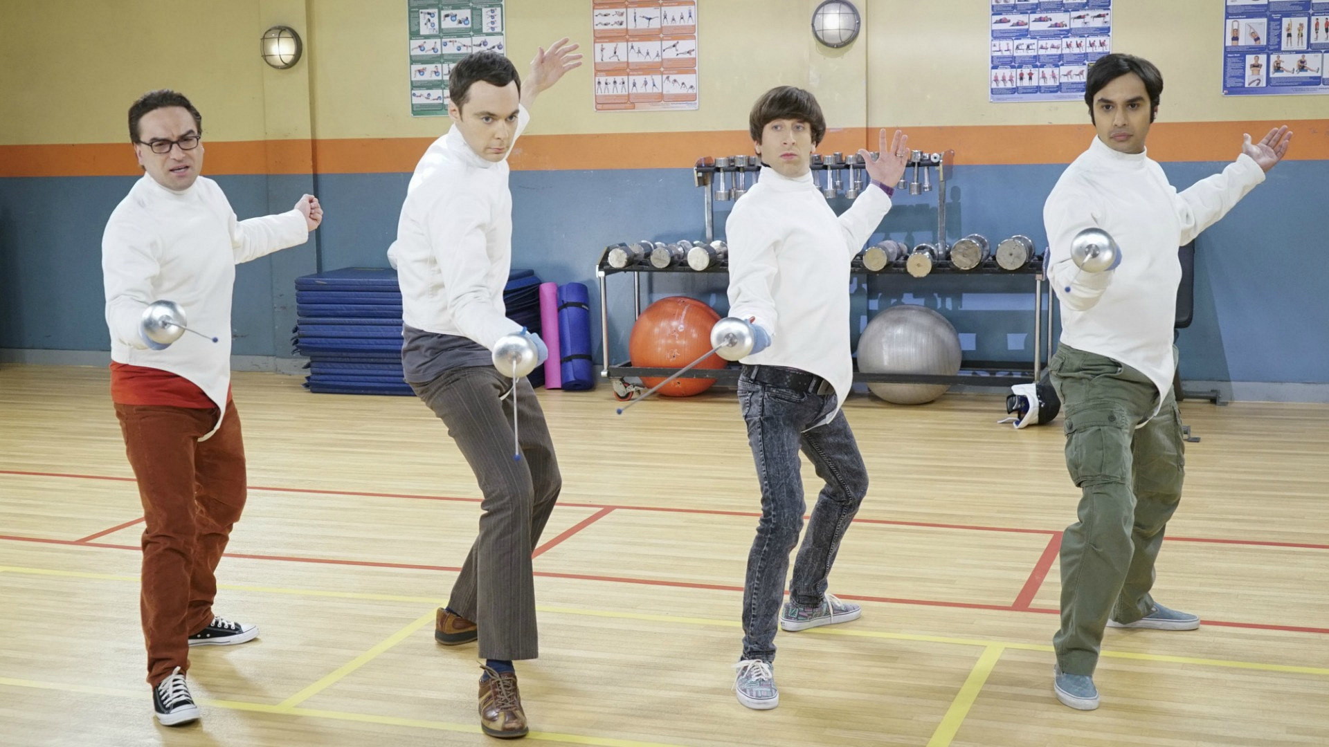 4. We laughed when the guys tried to prove their athleticism by taking fencing lessons