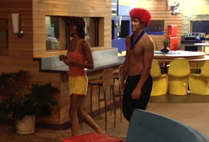 The first hanky-panky caught on the Big Brother cameras