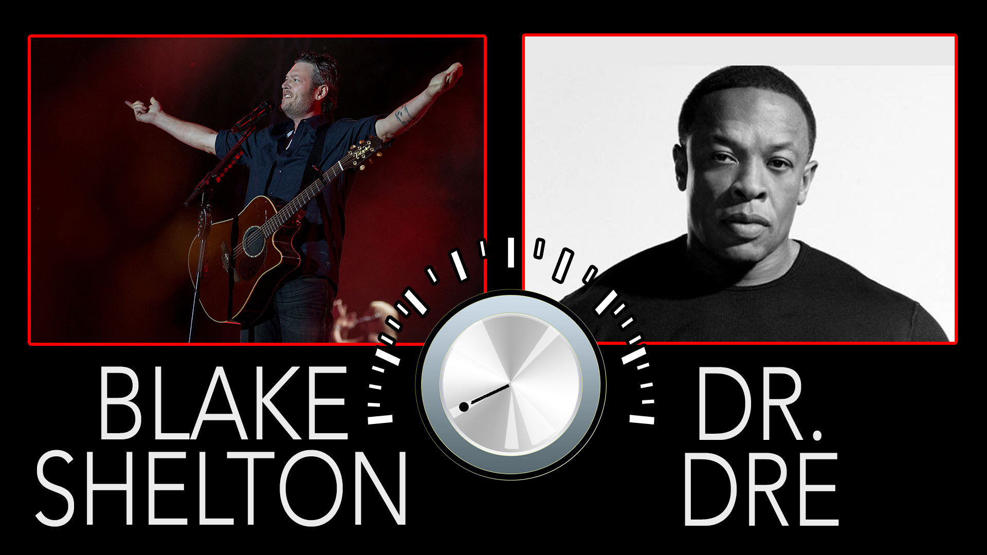 Blake Shelton and Dr. Dre share some major connections.