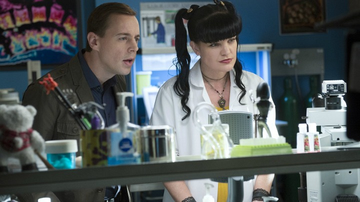 Sean Murray as Timothy McGee and Pauley Perrette as Abby Sciuto