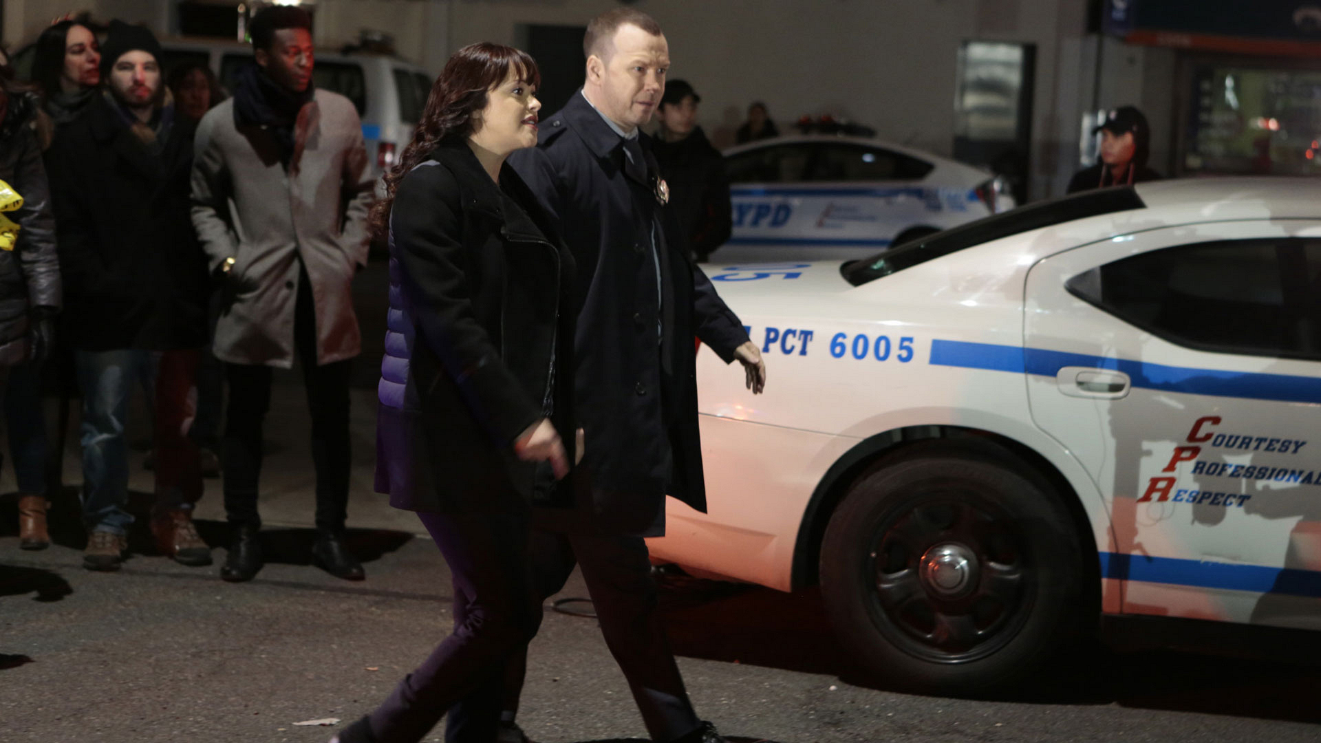 Marisa Ramirez as Detective Maria Baez and Donnie Wahlberg as Detective Danny Reagan
