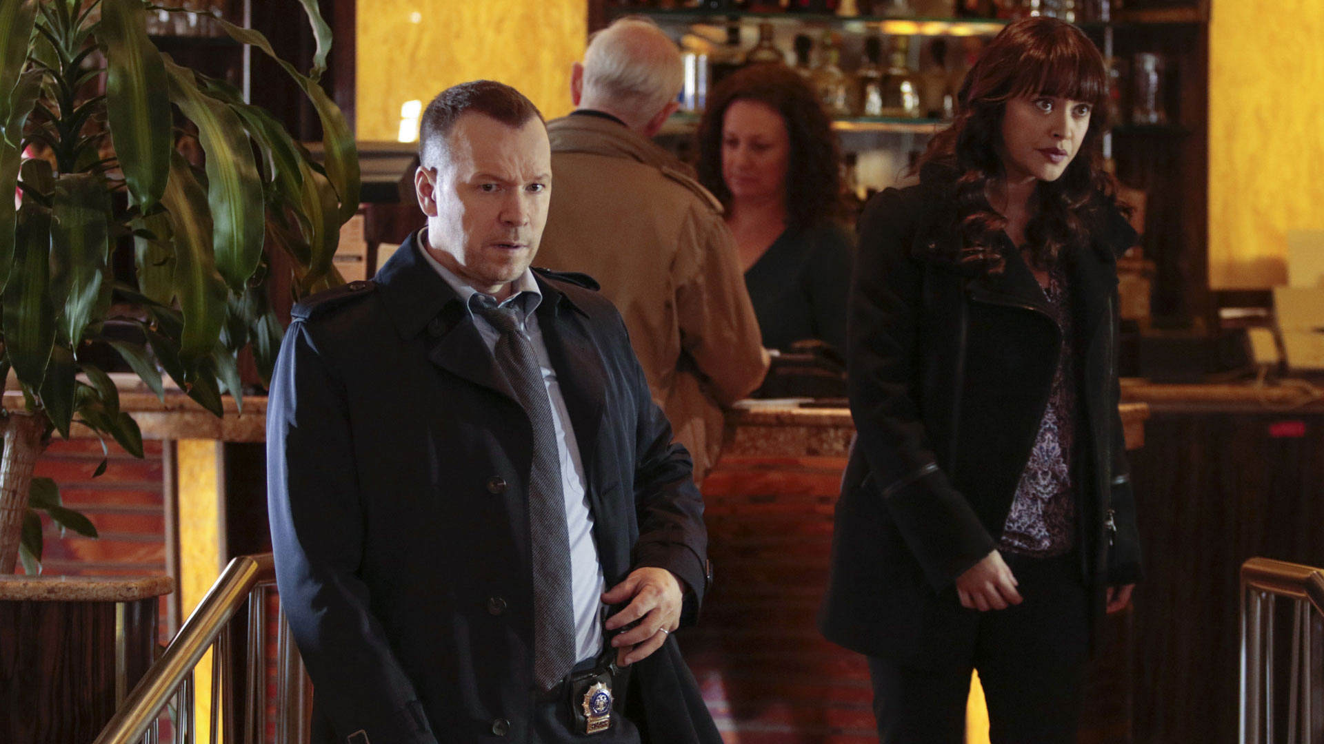 Donnie Wahlberg as Detective Danny Reagan and Marisa Ramirez as Detective Maria Baez