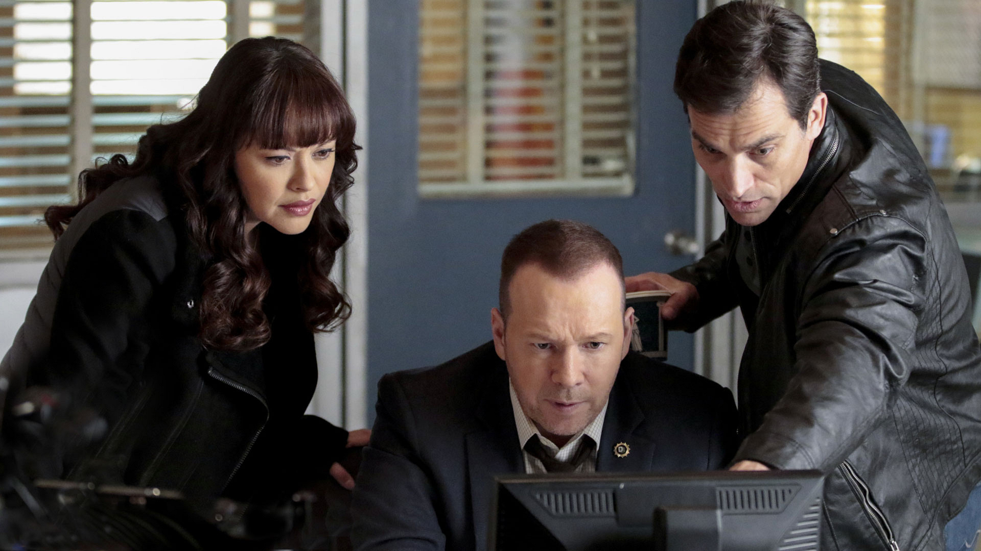 Marisa Ramirez as Detective Maria Baez, Donnie Wahlberg as Detective Danny Reagan, and Johnathon Schaech as Detective Jimmy Mosley