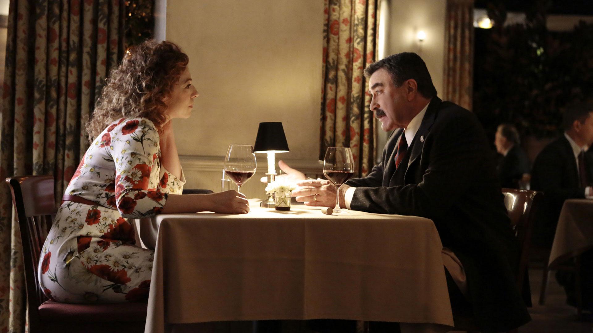 Alex Kingston as Sloane Thompson and Tom Selleck as Frank Reagan