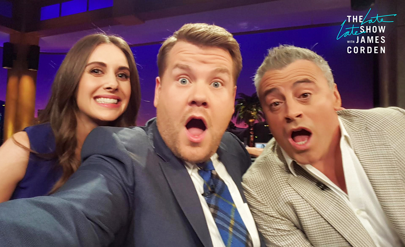 Allison Brie and Matt LeBlanc