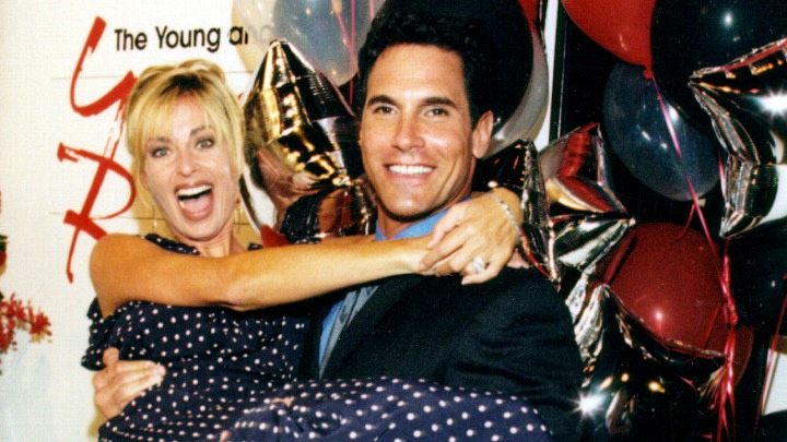 Eileen Davidson and Don Diamont get in the festive spirit.