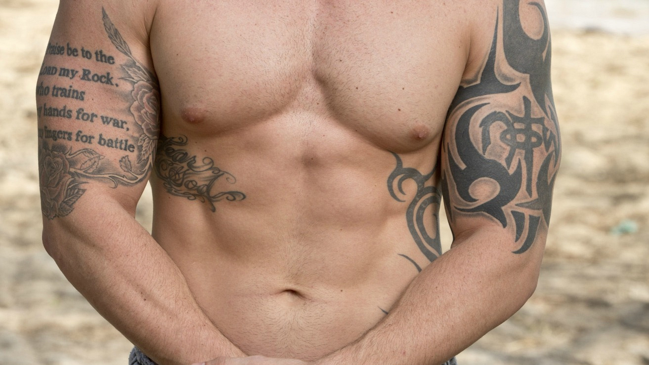 These beautiful abs are perfect for this Survivor's Tribe.
