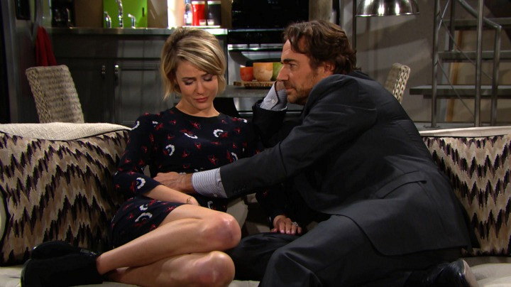 Ridge and Caroline decide to raise the baby as their own.