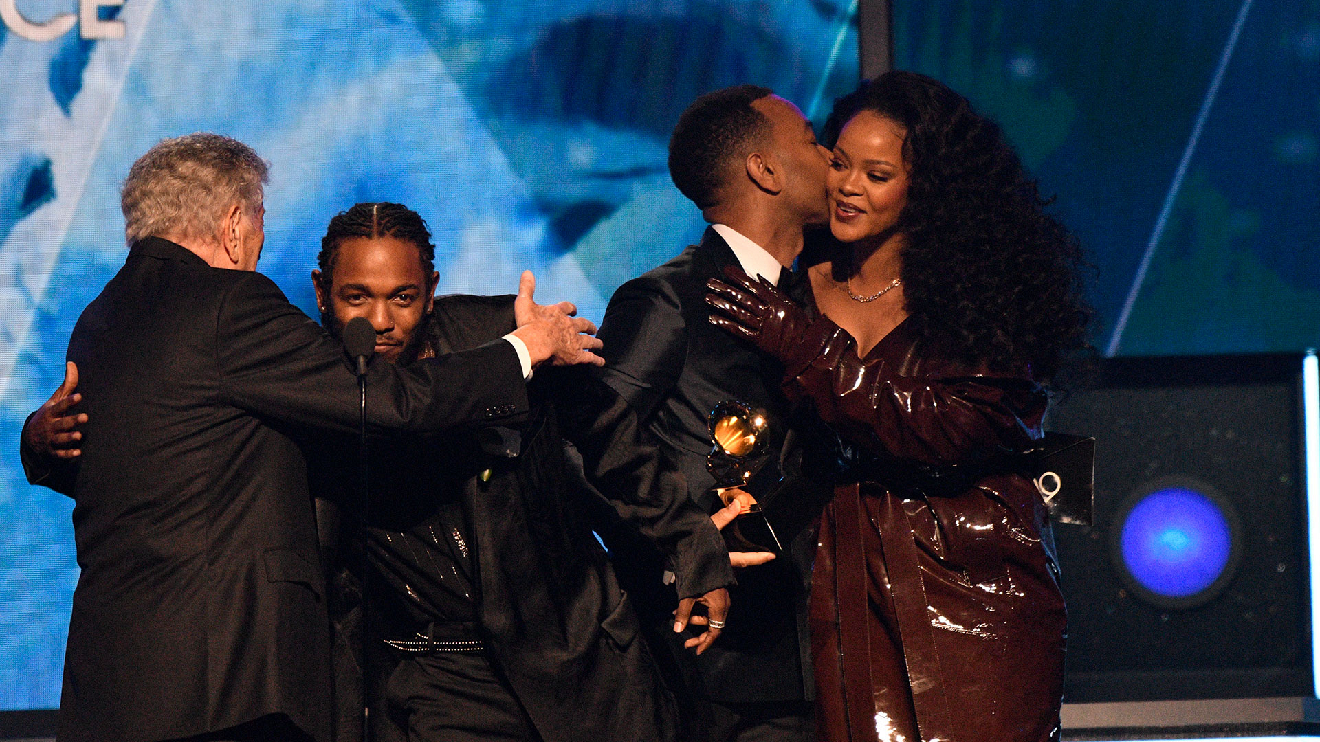"Kendrick Lamar wins Best Rap/Sung Performance for ""LOYALTY."" featuring Rihanna at the 60th Annual GRAMMY Awards."