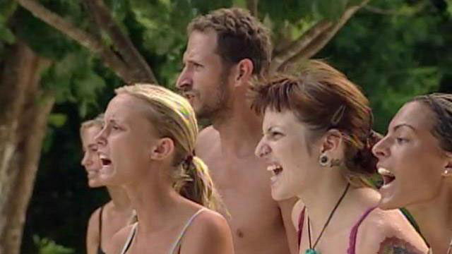 What was the only pre-merge Survivor tribe to face eight consecutive tribal councils?