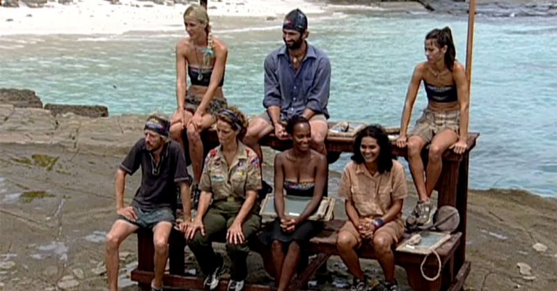What castaway tricked his tribe into thinking his grandmother had just died?