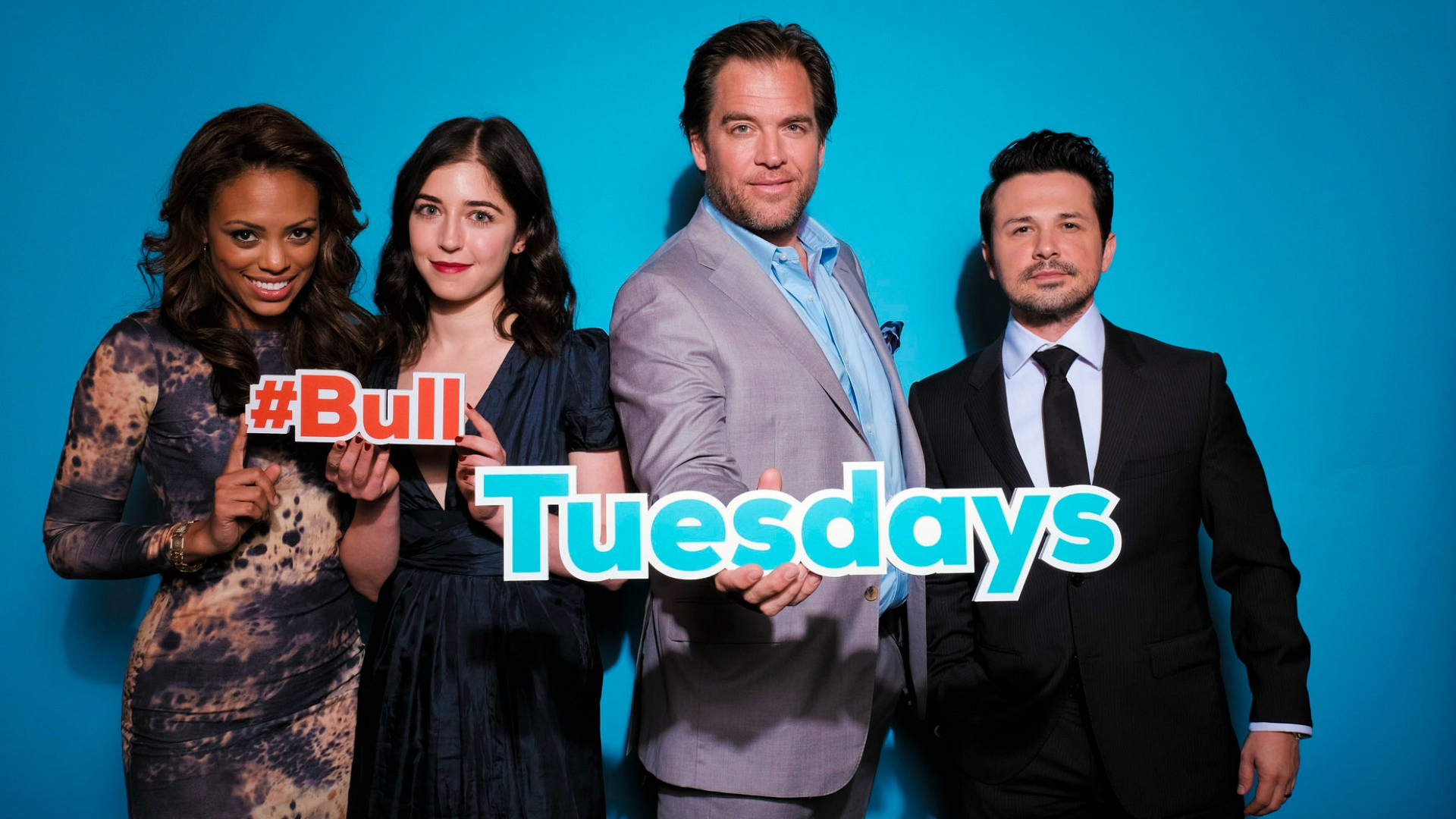 Jaime Lee Kirchner, Annabelle Attanasio, Michael Weatherly, and Freddy Rodríguez from Bull