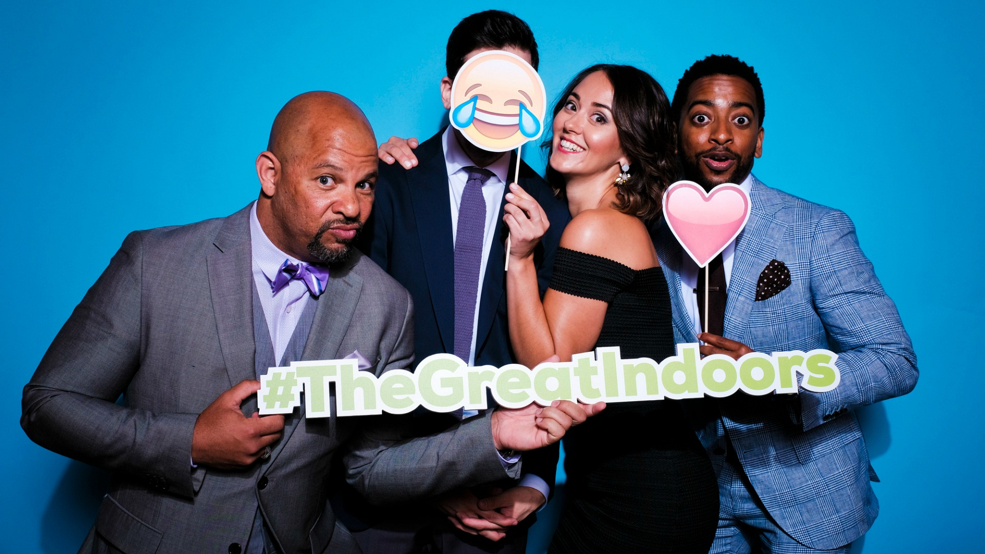 Chris Williams, Christopher Mintz-Plasse, Susannah Fielding, and Shaun Brown from The Great Indoors