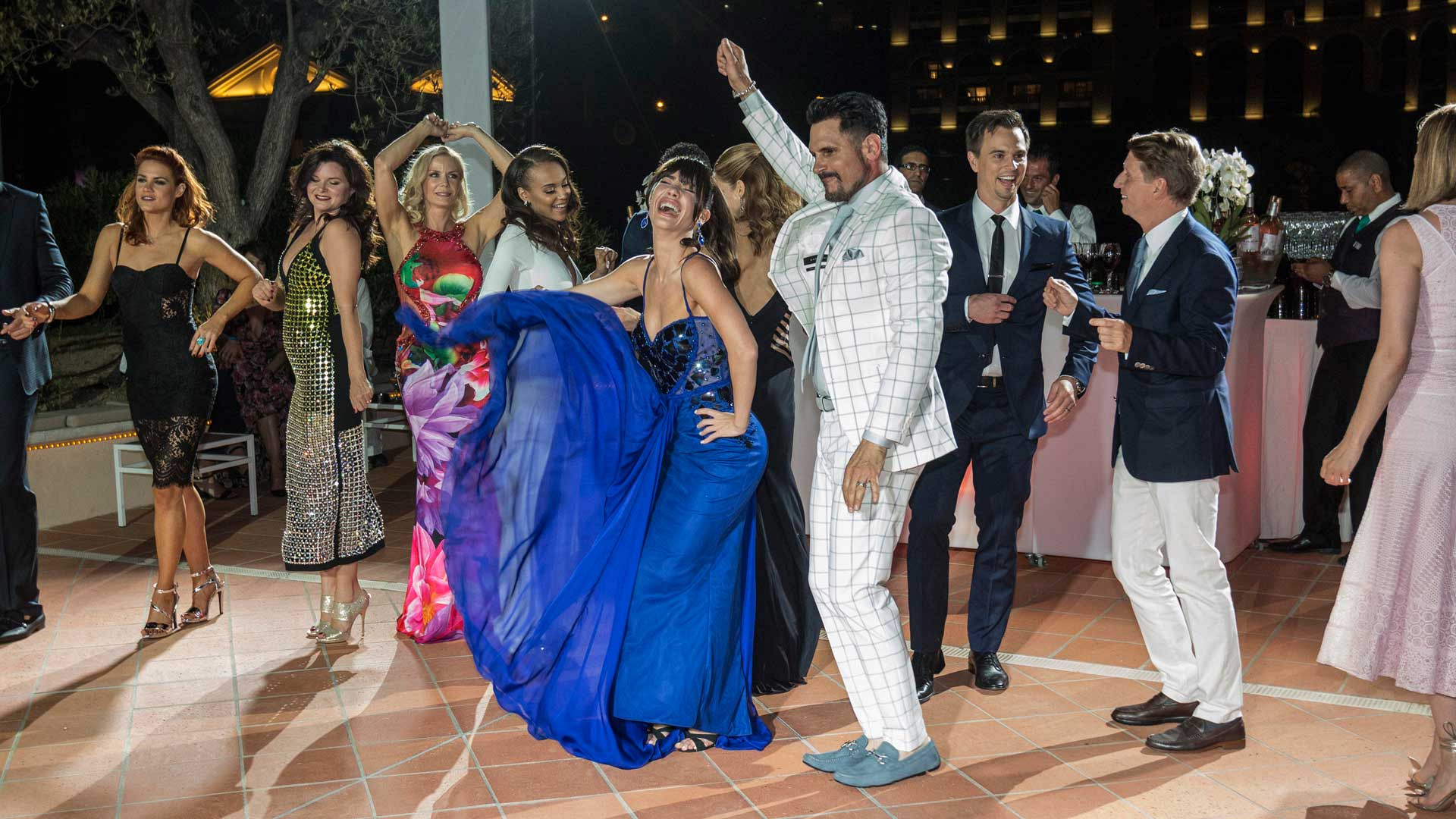 The cast of B&B cut loose when they hit the dance floor.