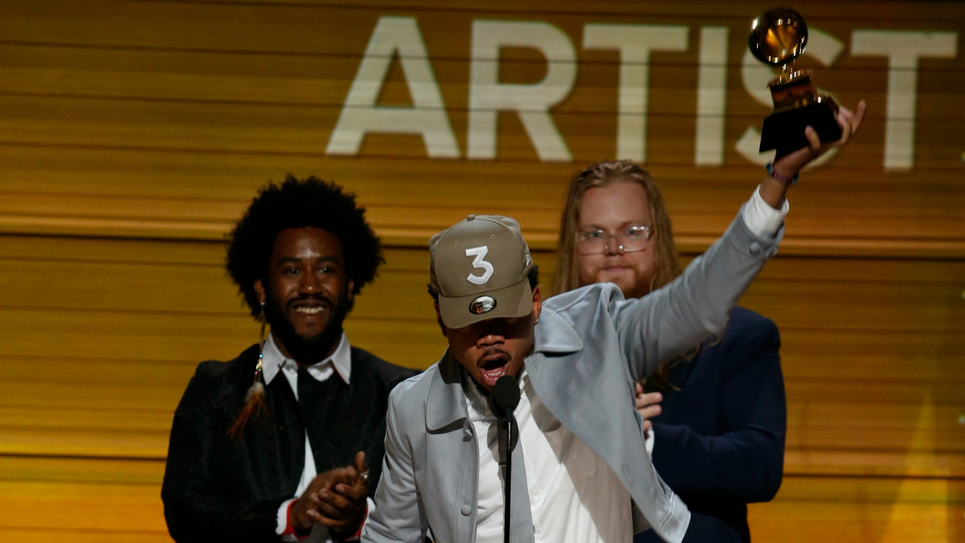 Chance The Rapper wins Best New Artist at the 2017 GRAMMY Awards