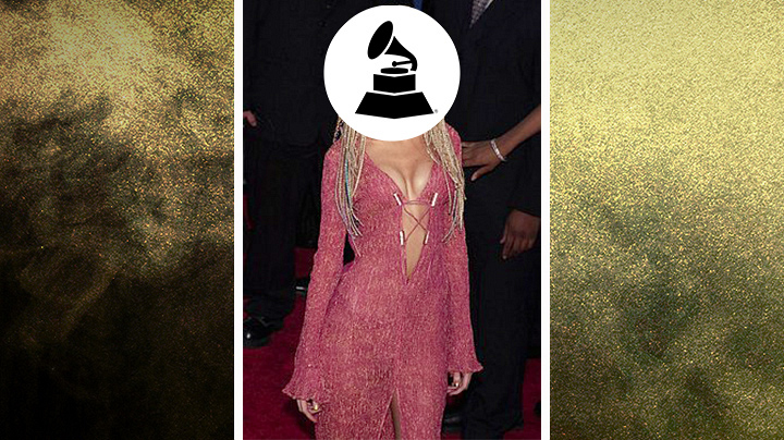 Who wore this plunging sheer cover-up dress with braids?
