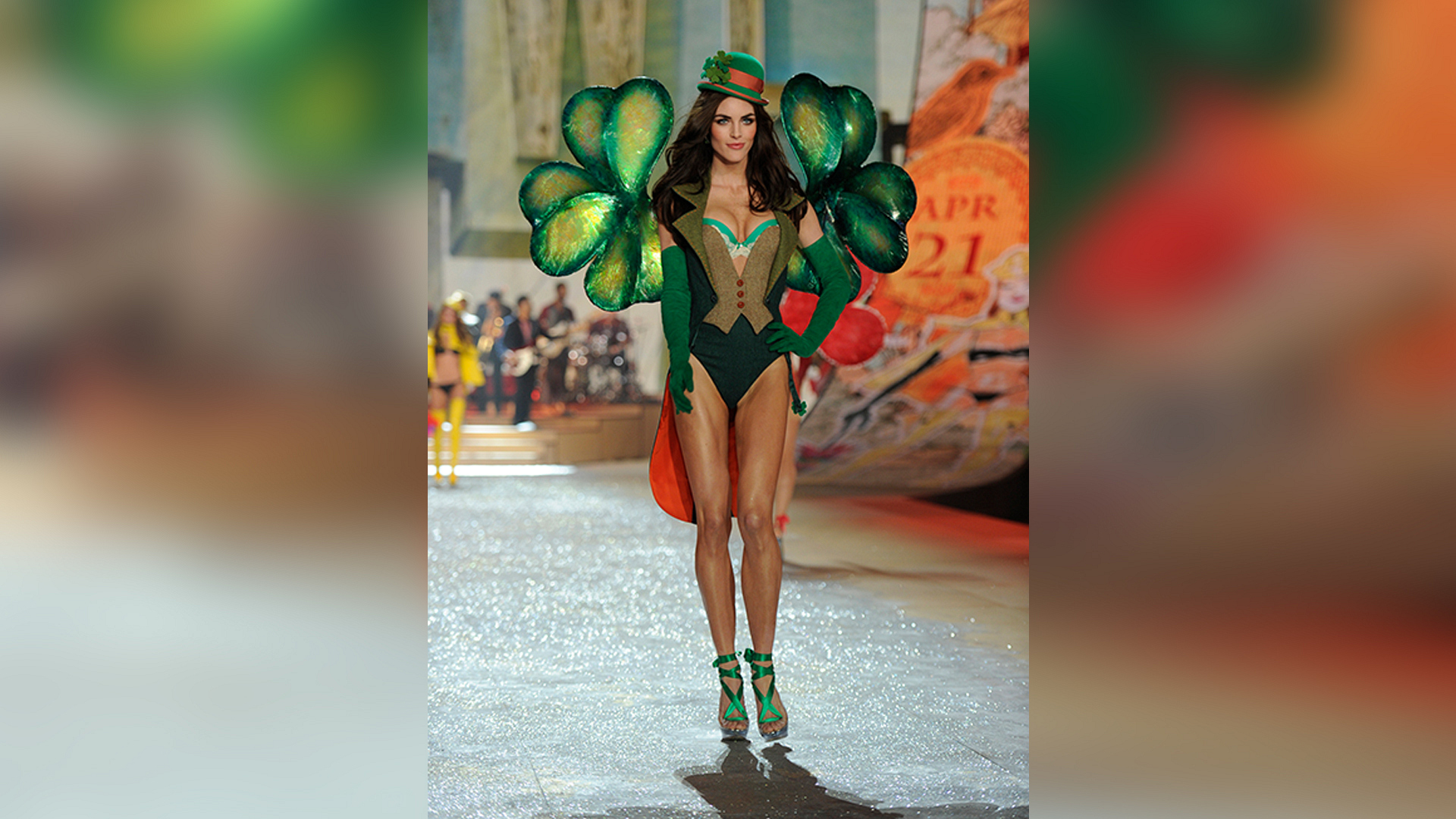 Hilary Rhoda served as a good luck charm in 2012.