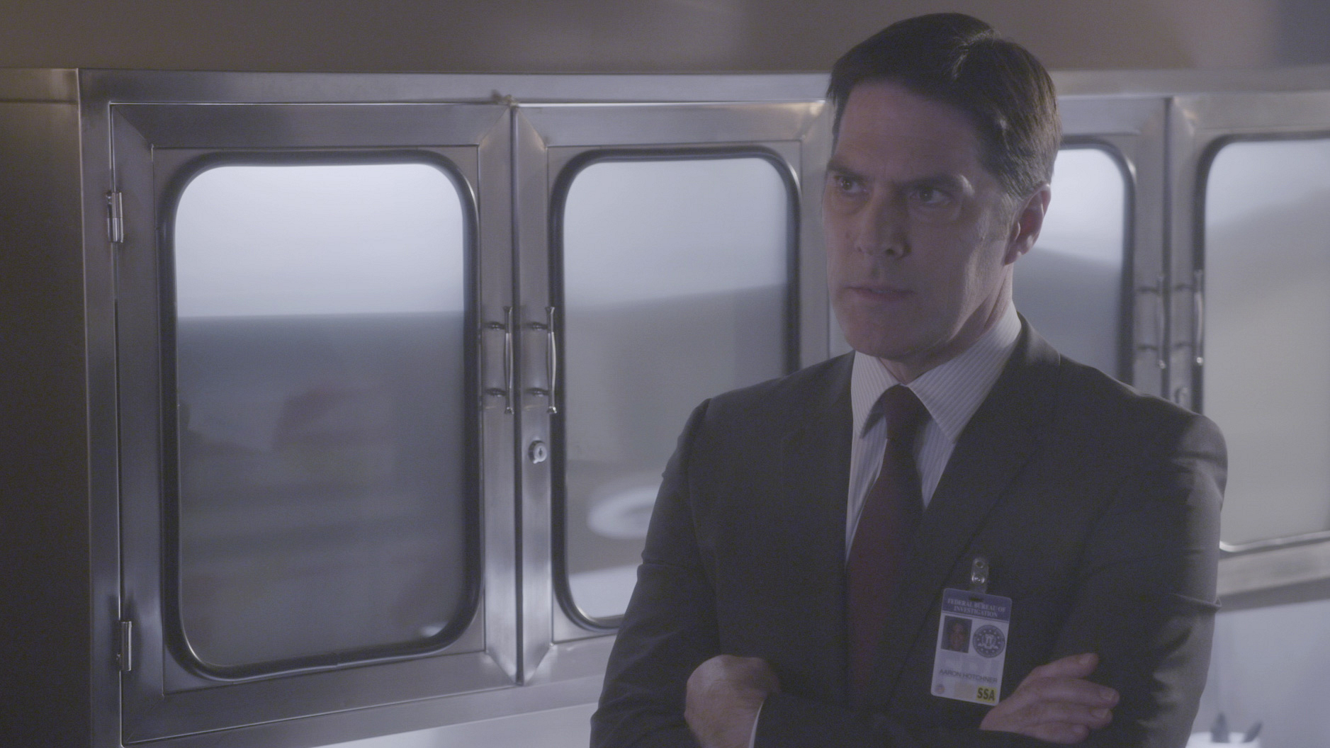 Hotch analyzes the evidence.