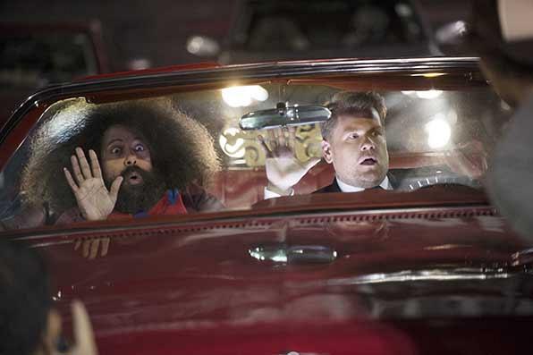 James Corden and Reggie Watts crash the show.