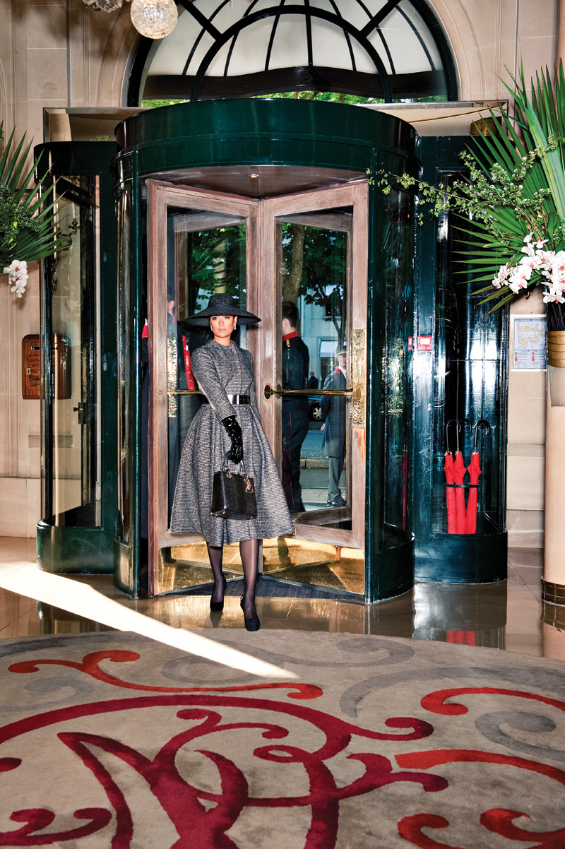 Cote Enters the Lobby of Hôtel Plaza Athénée, Near Christian Dior on Avenue Montaigne