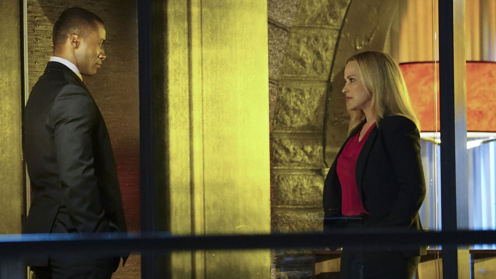 Sean Blakemore as FBI Director Silver and Patricia Arquette as Avery Ryan