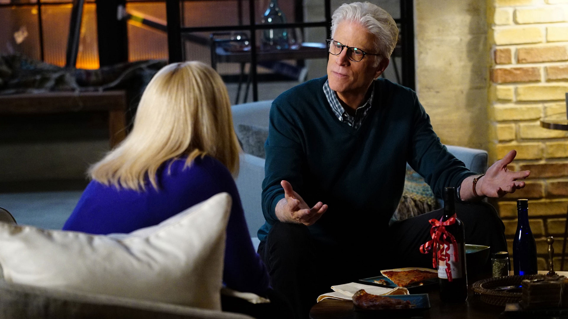 Patricia Arquette as Dr. Avery Ryan and Ted Danson as D.B. Russell
