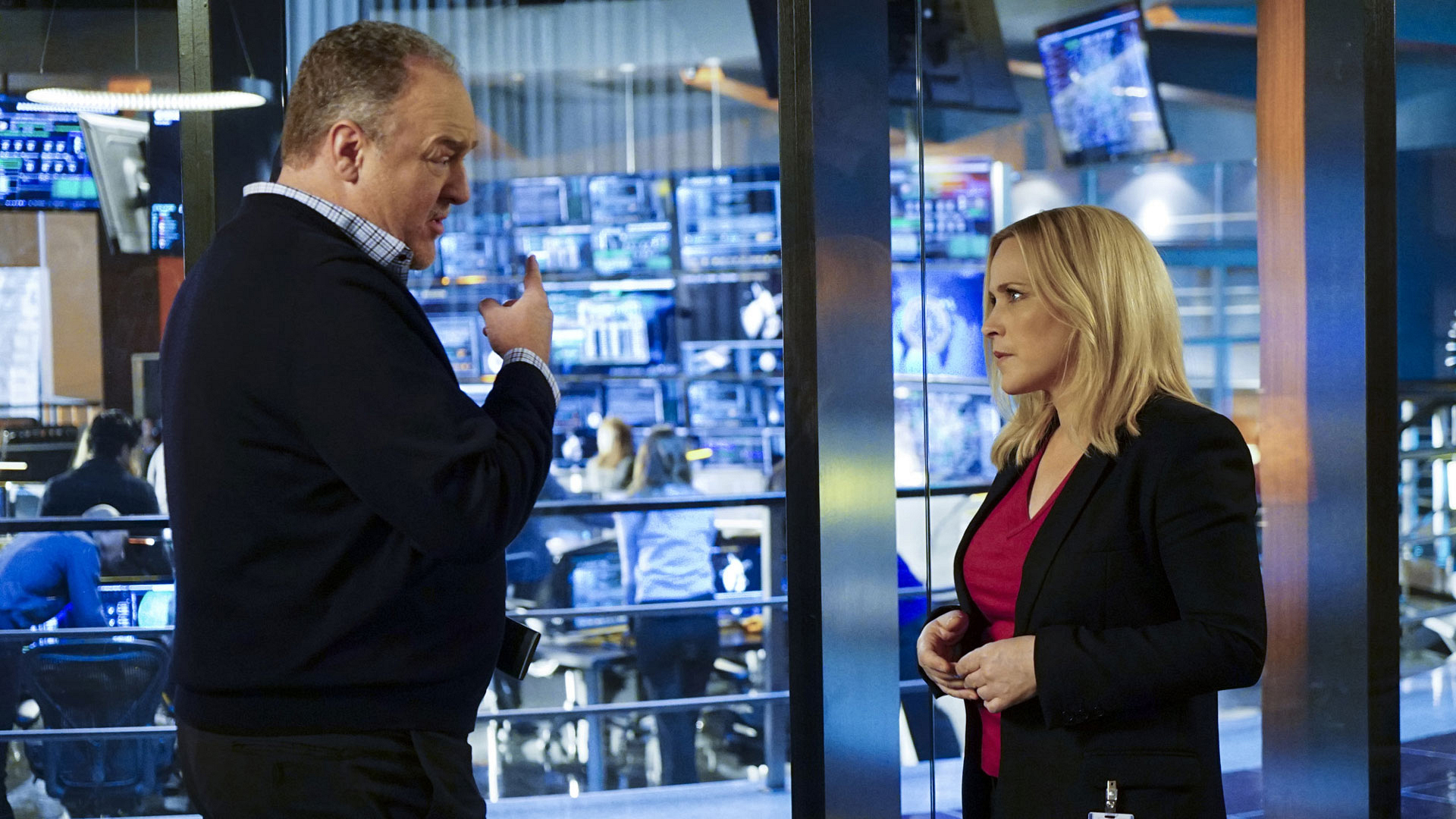 Brent Sexton as Andrew Michaels and Patricia Arquette as Agent Avery Ryan