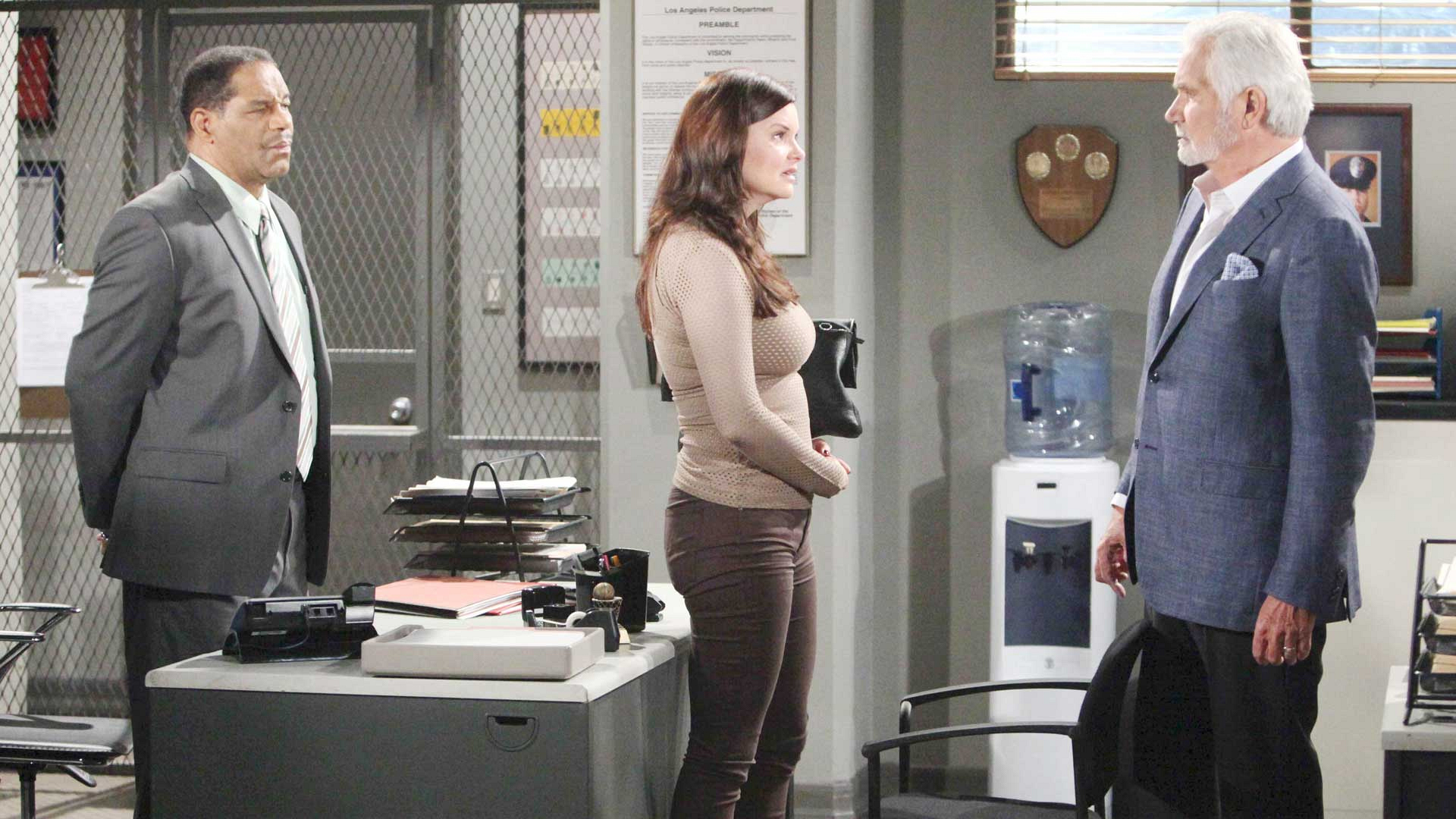 Katie attempts to convince the police and Eric that she's not the person responsible for what's been happening at the Forrester Mansion.