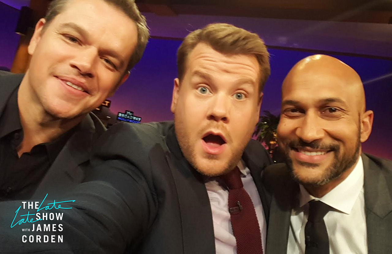 Matt Damon and Keegan-Michael Key