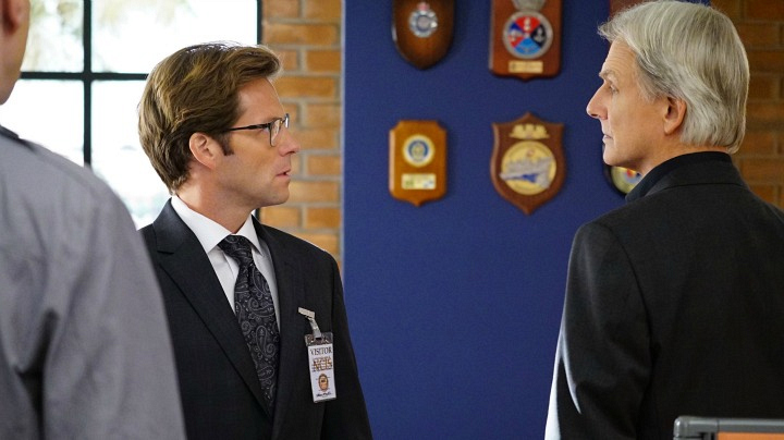 Jamie Bamber as Jake Malloy and Mark Harmon as Leroy Jethro Gibbs