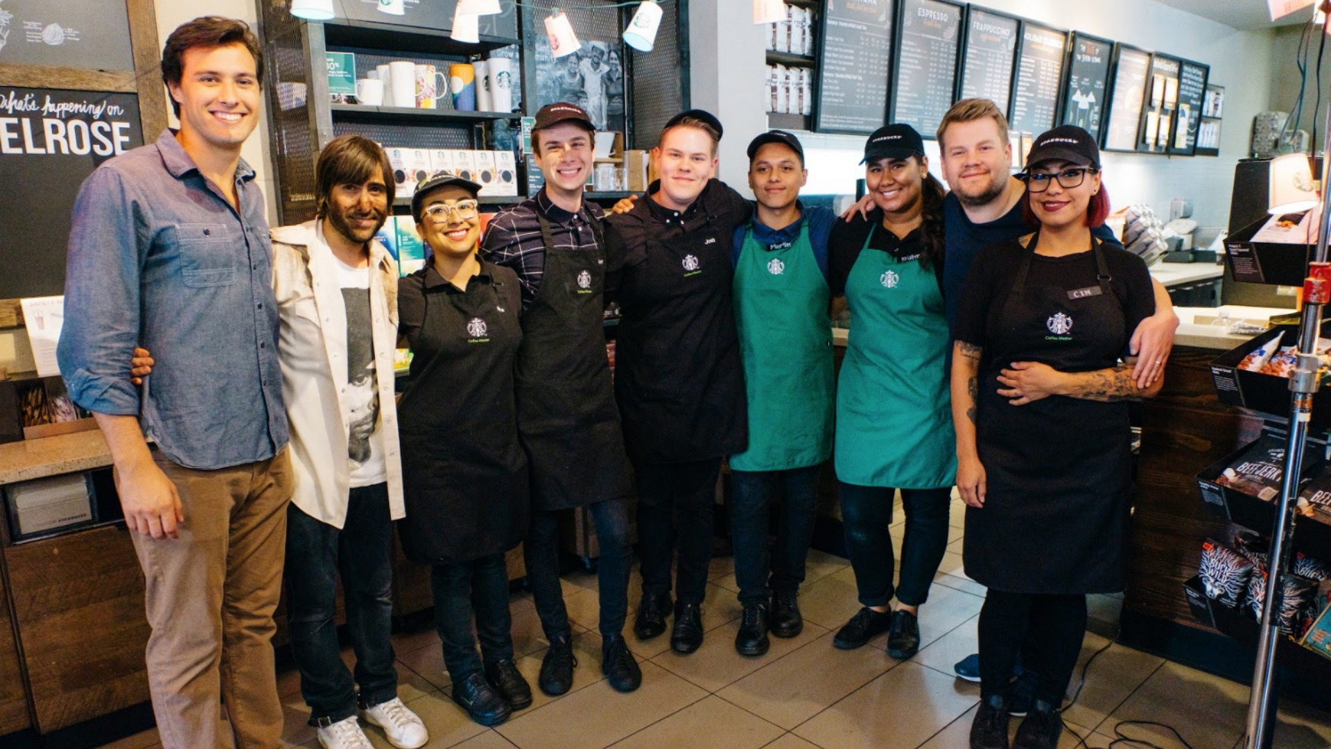 Thank you to the amazing Starbucks crew for putting up with our shenanigans!