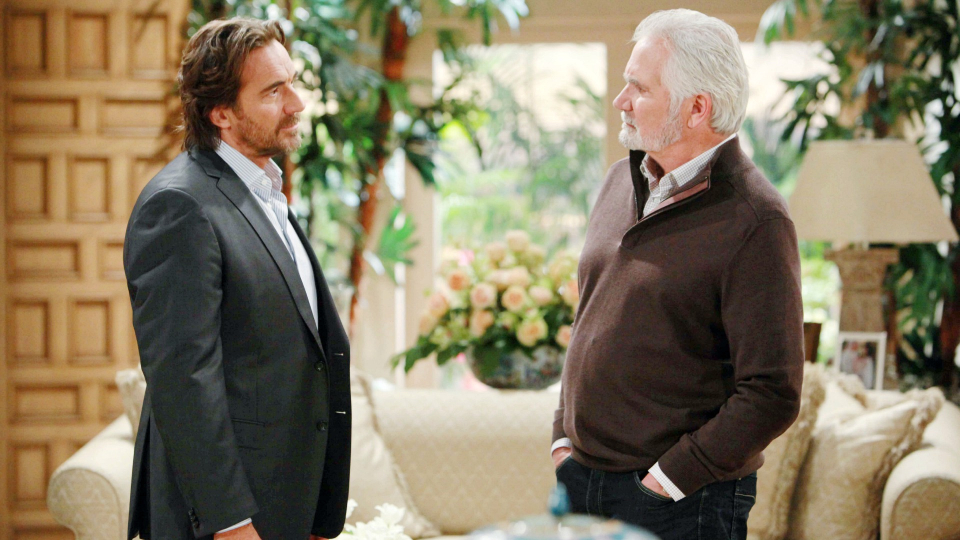 Ridge pays Eric a visit in an attempt to get him to change his mind about the Forrester CEO position.