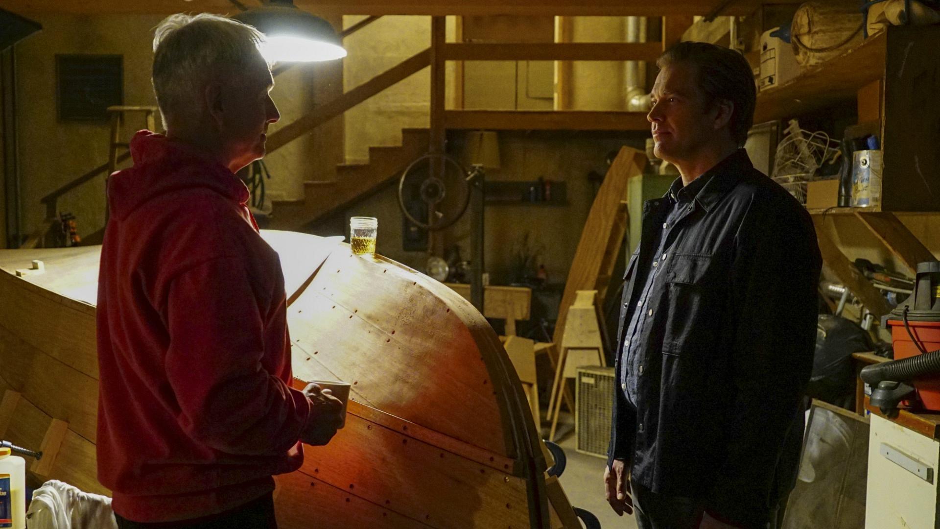 DiNozzo stops by Gibbs' basement.