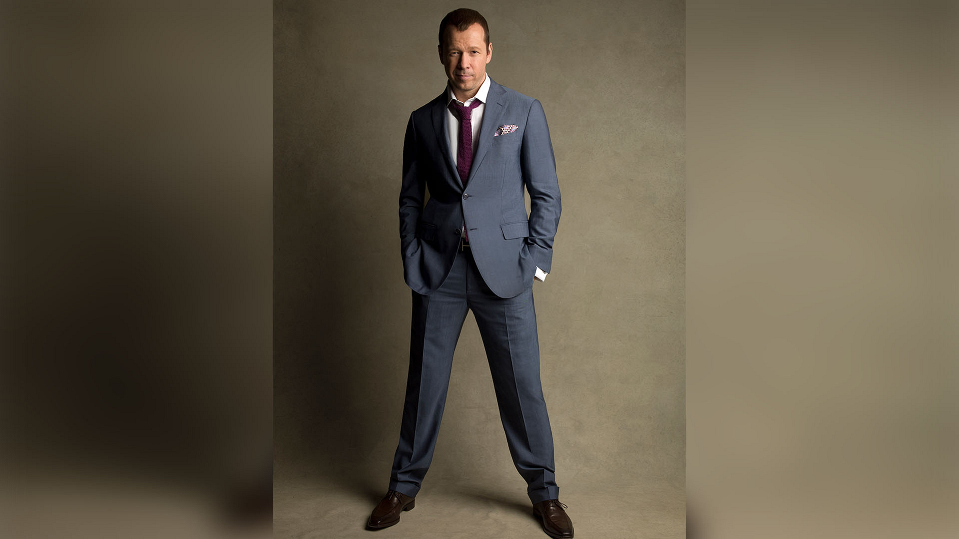 Donnie Wahlberg suits up