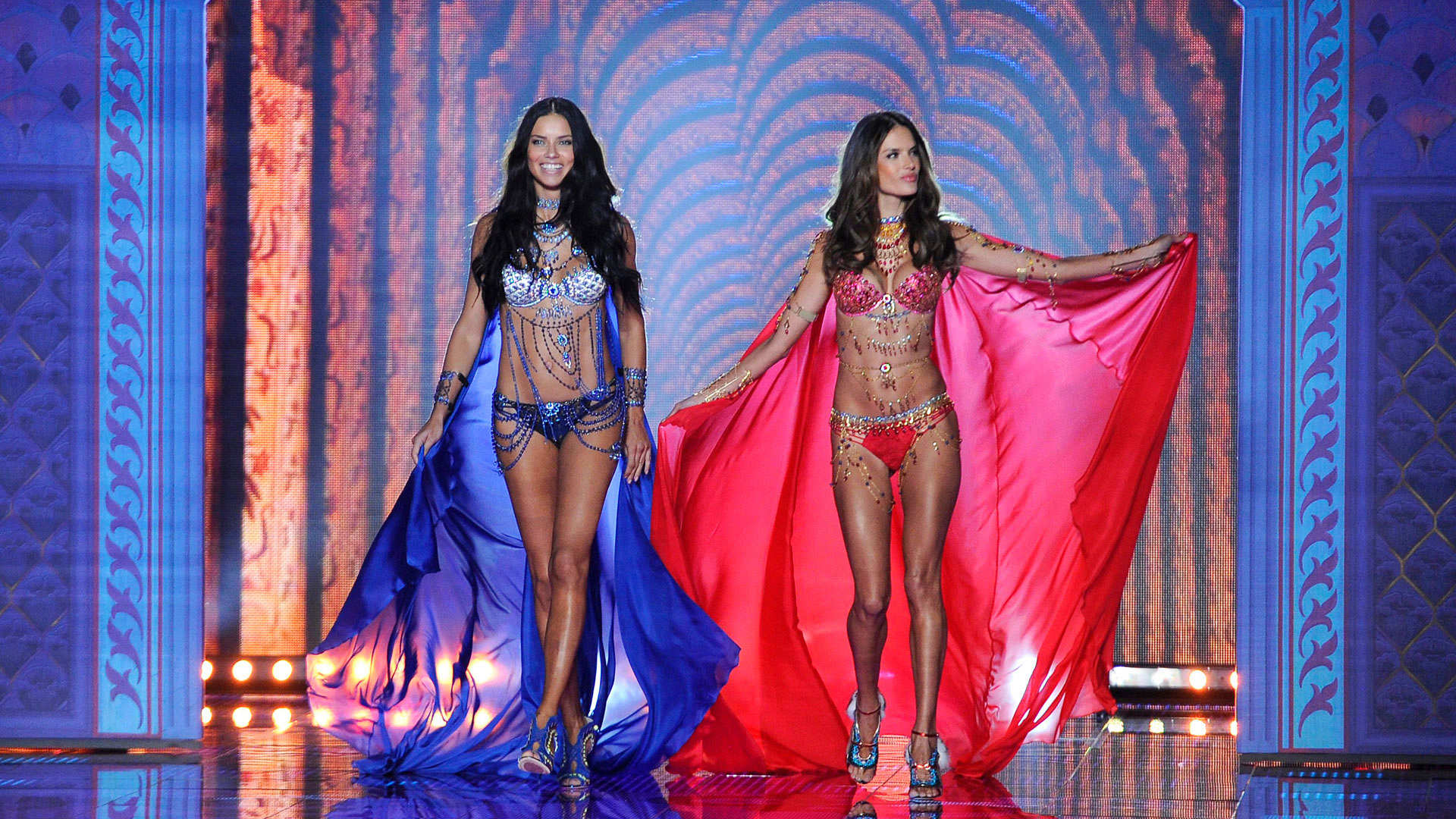 Alessandra Ambrosio and Adriana Lima were a match made in heaven in 2014.