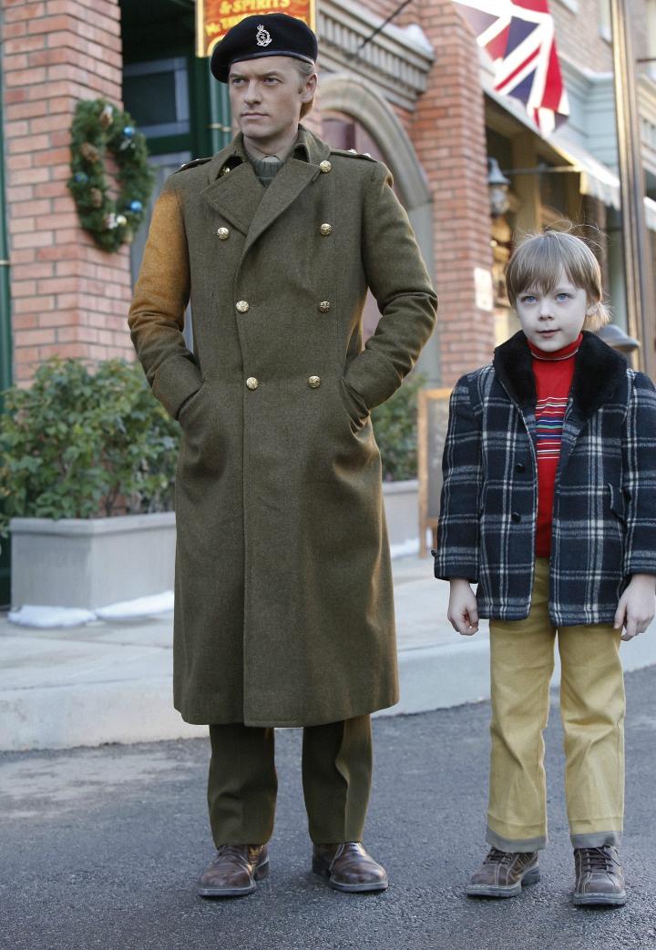 """Adam Campbell as Young Donald """"Ducky"""" Mallard and Andy Walken as Nicholas Mallard."""
