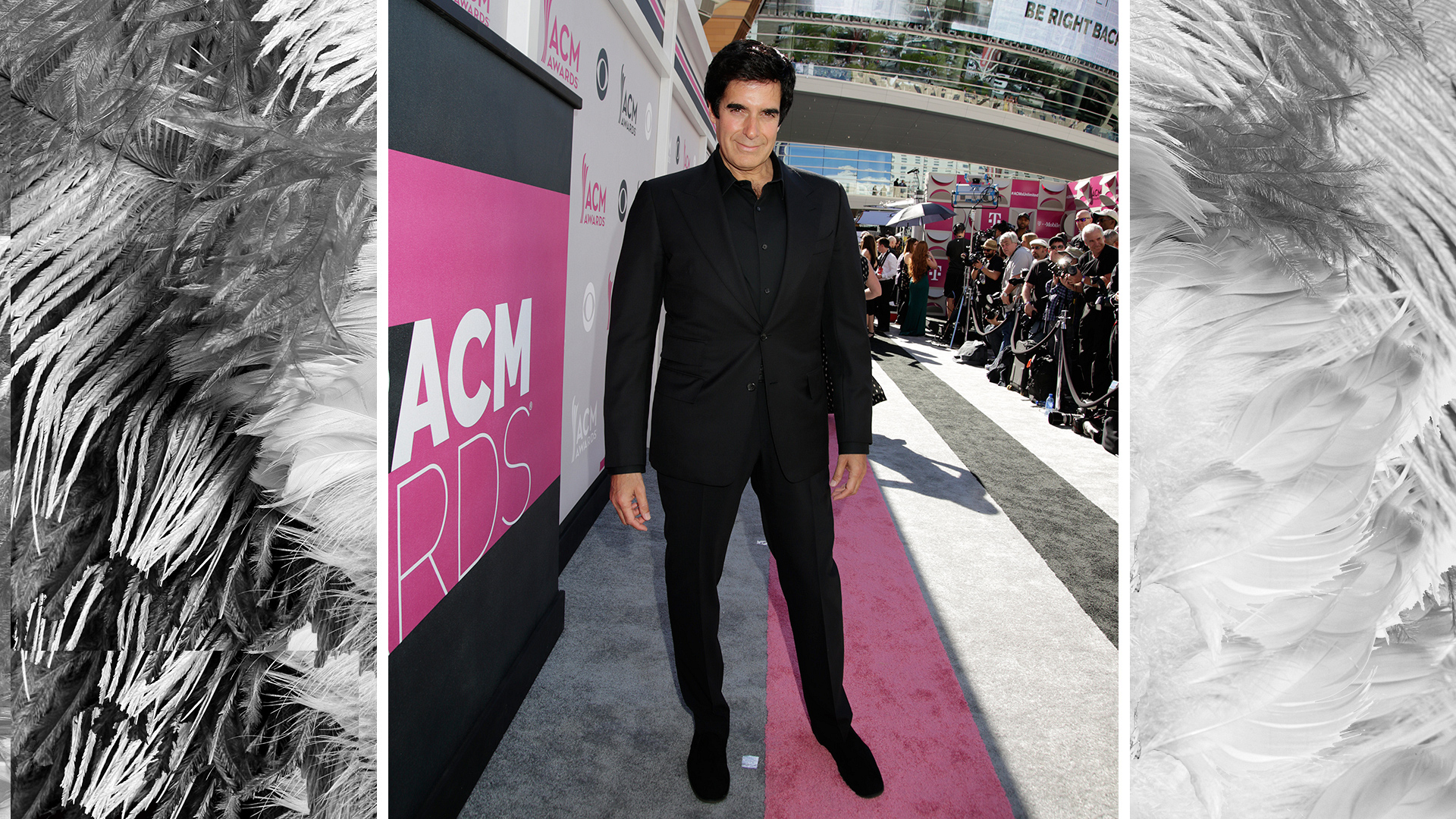 No, your eyes aren't playing tricks on you—illusionist David Copperfield is at the 52nd ACM Awards.